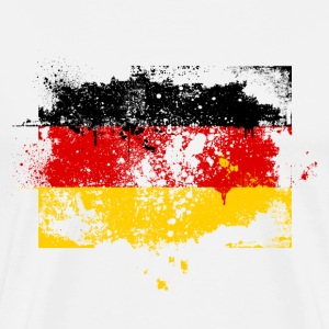 Germany German Deutschland Deutsch swag style flag T-Shirts - Men's Premium T-Shirt