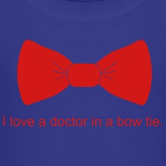 i_love_bow_tie_dr Kids' Shirts