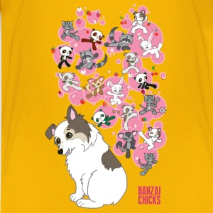 Freckles the Australian Shepherd and Kawaii Animal - Kids' Premium T-Shirt