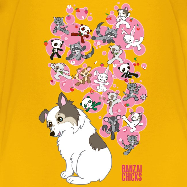 Freckles the Australian Shepherd and Kawaii Animal Friends!