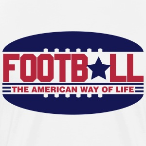 Football - the american way of life T-Shirts - Men's Premium T-Shirt