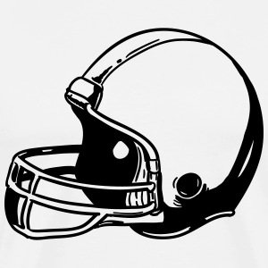 Football Helmet T-Shirts - Men's Premium T-Shirt