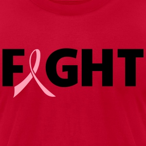 Fight Ribbon T-Shirts - Men's T-Shirt by American Apparel
