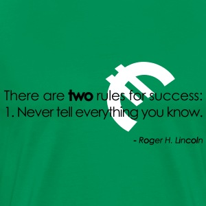 2 Rules for success T-Shirts - Men's Premium T-Shirt