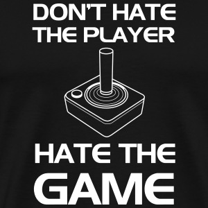 Old School Gaming. Don't Hate the Player T-Shirts - Men's Premium T-Shirt