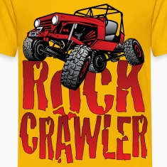 Red Jeep Rock Crawler Light Kids' Shirts