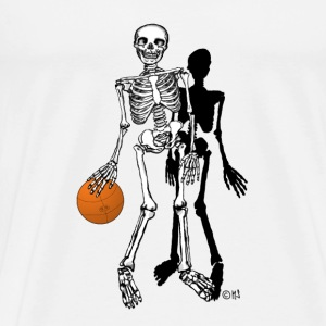 skeleton basketball T-Shirts - Men's Premium T-Shirt