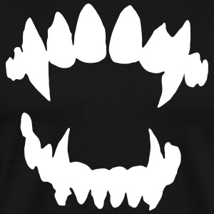 Halloween Vampire - Vampire teeth T-Shirts - Men's Premium T-Shirt