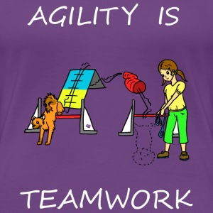 Agility Is - Teamwork! Women's T-Shirts - Women's Premium T-Shirt