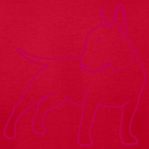 Bull Terrier cn_single_1c_4light T-Shirts - Men's T-Shirt by American Apparel
