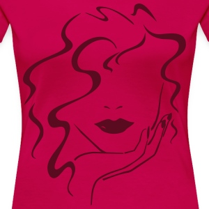Womans fashioned Head 1c Women's T-Shirts - Women's Premium T-Shirt