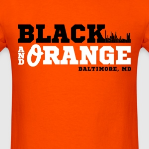 black and orange - Men's T-Shirt