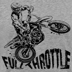 Off-Road Motocross Dirt Bike Full Throttle T-Shirts