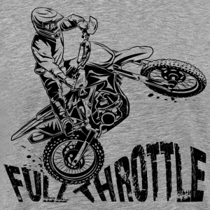 Off-Road Motocross Dirt Bike Full Throttle T-Shirts - Men's Premium T-Shirt