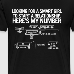 Looking for a Smart Girl - Men's Premium T-Shirt