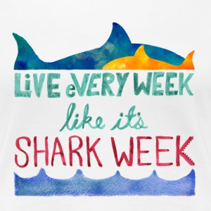 Shark Week Women's T-Shirts - Women's Premium T-Shirt