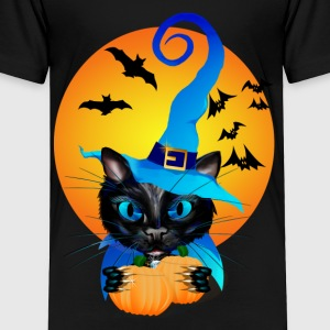 Blue Witch Kitty -Harvest Moon - Toddler Premium T-Shirt