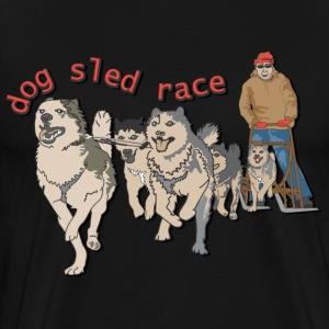 Dog sled race - Men's Premium T-Shirt