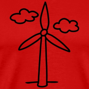 windmill - wind turbine T-Shirts - Men's Premium T-Shirt