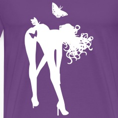 bent over butterfly T-Shirts