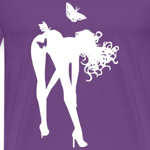 bent over butterfly T-Shirts - Men's Premium T-Shirt