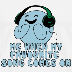 fav song comes on T-Shirts - Men's Premium T-Shirt