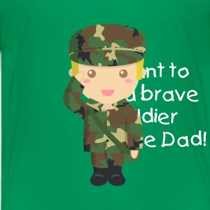 cute army cadet boy Kids' Shirts - Kids' Premium T-Shirt