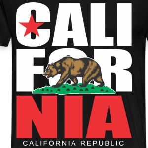 CALIFORNIA REPUBLIC  Bear T-Shirts - Men's Premium T-Shirt