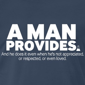A Man Provides - Men's Premium T-Shirt