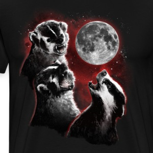 3 BADGER MOON T-Shirts - Men's Premium T-Shirt