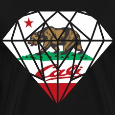 California Diamond Bear T-Shirts