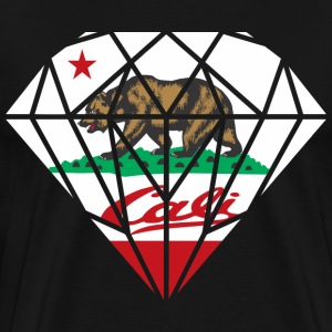 California Diamond Bear T-Shirts - Men's Premium T-Shirt