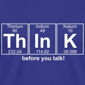 Th-In-K (think) - Full T-Shirts - Men's Premium T-Shirt