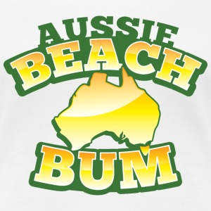 Aussie BEACH Bum with Australian Map Women's T-Shirts - Women's Premium T-Shirt