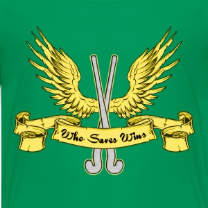 Who Saves Wins, Field Hockey Kids' Shirts - Kids' Premium T-Shirt
