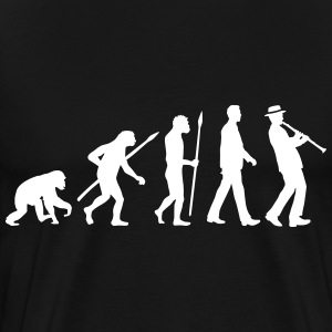 evolution_clarinet_player_092013_a_1c T-Shirts - Men's Premium T-Shirt