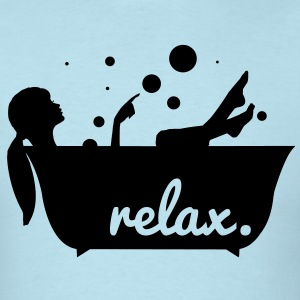 relax in a bathtub T-Shirts - Men's T-Shirt