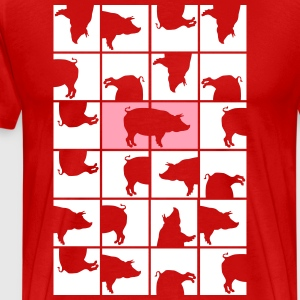 Domino pigs Shirt - Men's Premium T-Shirt