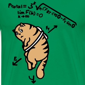 Math Cat - Anti-Gravity Cat on Toast T-Shirts - Men's Premium T-Shirt