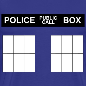 Police Box shirt (front and back) - Men's Premium T-Shirt