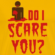 So I scare you? Zombie Halloween eating brains T-Shirts