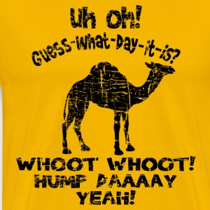 Vintage Distressed Hump Day Camel T-shirt - Men's Premium T-Shirt
