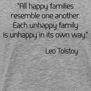 Leo Tolstoy on Happiness T-Shirts - Men's Premium T-Shirt