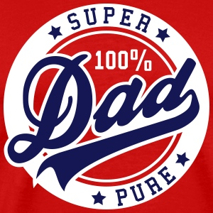100 percent PURE SUPER DAD 2C T-Shirt NW - Men's Premium T-Shirt