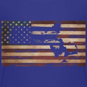 Massachusetts American Flag Baby & Toddler Shirts - Toddler Premium T-Shirt