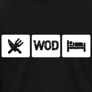 Eat Sleep WOD - Crossfit T-Shirts - Men's Premium T-Shirt