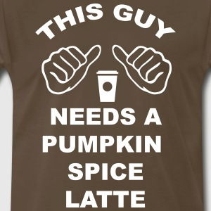 This Guy Needs a Latte T-Shirts - Men's Premium T-Shirt