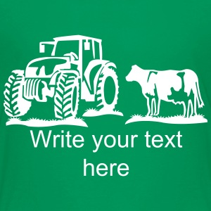 cow and tractor - Kids' Premium T-Shirt