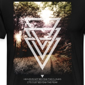 mystic forest triangles T-Shirts - Men's Premium T-Shirt