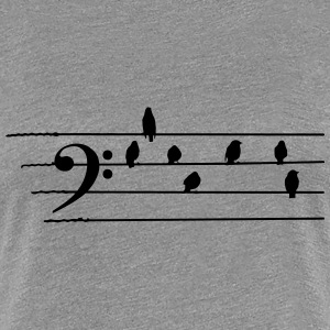 Music - Bass Clef birds as notes Women's T-Shirts - Women's Premium T-Shirt